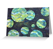Green Cosmos  Greeting Card
