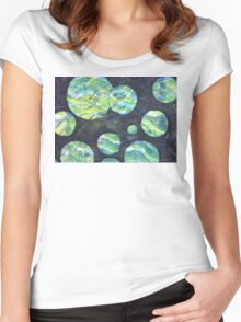 Green Cosmos  Women's Fitted Scoop T-Shirt