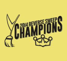 Reverse Sweep Champions (Black Text) Kids Clothes