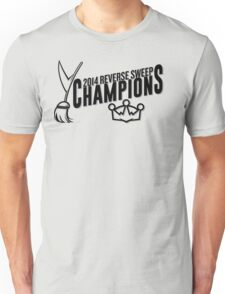 Reverse Sweep Champions (Black Text) T-Shirt