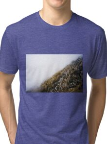 Snowy Mountain Forest Nature Fine Art Photography 0019 Tri-blend T-Shirt