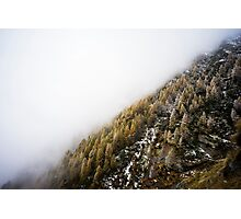 Snowy Mountain Forest Nature Fine Art Photography 0019 Photographic Print