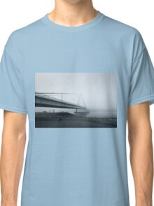 Foggy Bridge River Nature Fine Art Photography 0020 Classic T-Shirt