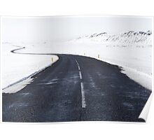 Snowy Road Ahead Nature Fine Art Photography 0021 Poster