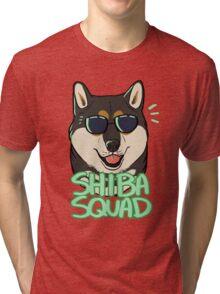 SHIBA SQUAD (black and tan) Tri-blend T-Shirt