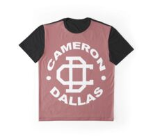Cameron Dallas Logo Black and White funny nerd geek geeky Graphic T-Shirt