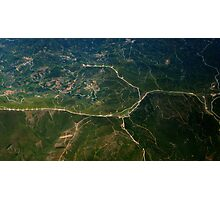 Aerial Landscape Mountain Fine Art Photography 0024 Photographic Print