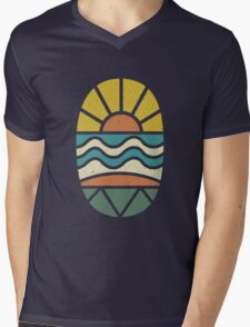 Lets Go Surfing Mens V-Neck T-Shirt