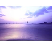 Purple Bridge Landscape Nature Fine Art Photography 0032 Photographic Print