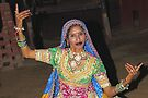 Dancer in Rajasthan, India by Carole-Anne