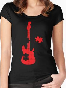 Guitar Puzzle Women's Fitted Scoop T-Shirt