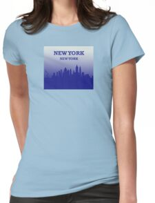 New York New York Womens Fitted T-Shirt
