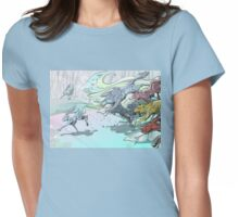 Wolves and Hares Womens Fitted T-Shirt
