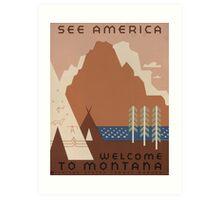 'Montana' Vintage Travel Poster Art Print