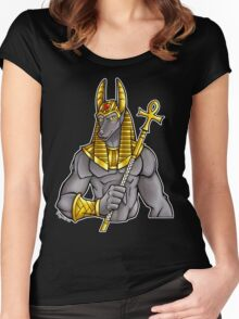 Anubis Egyptian God  Women's Fitted Scoop T-Shirt