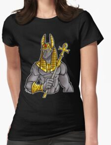 Anubis Egyptian God  Womens Fitted T-Shirt