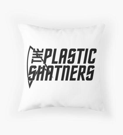 Plastic Shatners Logo Black Throw Pillow