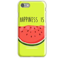 Happiness is Watermelon iPhone Case/Skin