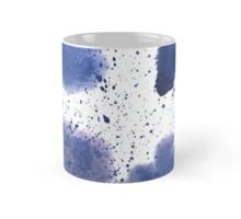 Abstract watercolor spot with blue color. Mug