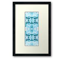 Baby Blue Petal Framed Print