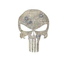Punisher Skull design- grunge, dirty version Photographic Print