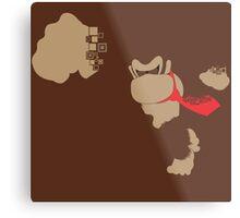Donkey Kong Pixel Silhouette Metal Print