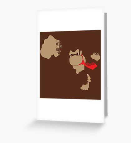 Donkey Kong Pixel Silhouette Greeting Card