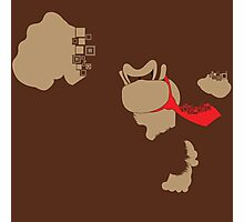 Donkey Kong Pixel Silhouette Photographic Print