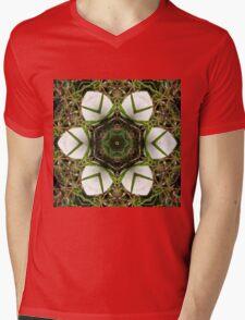Kaleidoscope of puffball fungus Mens V-Neck T-Shirt