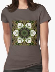 Kaleidoscope of puffball fungus Womens Fitted T-Shirt