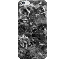 Black and white past iPhone Case/Skin