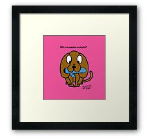 Why are puppies so playful? Framed Print