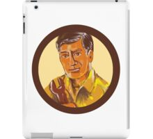Mechanic Holding Spanner Circle Watercolor iPad Case/Skin