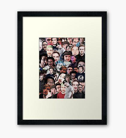 """gamer trinity"" collage Framed Print"