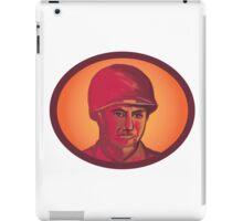 World War Two American Soldier Head Watercolor iPad Case/Skin