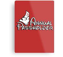 Passholder Metal Print