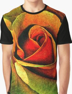 Burning Rose Of Autumn Graphic T-Shirt