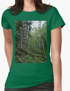 Rainforest Walk in Olympic National Park Womens Fitted T-Shirt