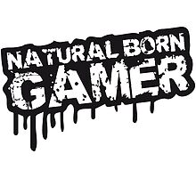 Natural Born Gamer Stempel Graffiti by Style-O-Mat