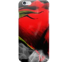 Passionate Red Hot Smoky Rose iPhone Case/Skin