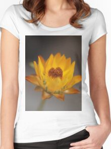 Yellow or gold Women's Fitted Scoop T-Shirt
