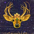 Envision - golden deer by Barbara Courtille