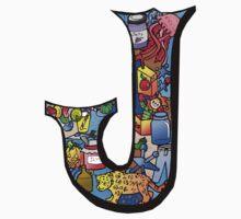 Doodle Letter J One Piece - Long Sleeve