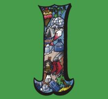Doodle Letter I One Piece - Short Sleeve
