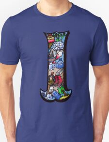 Doodle Letter I Unisex T-Shirt