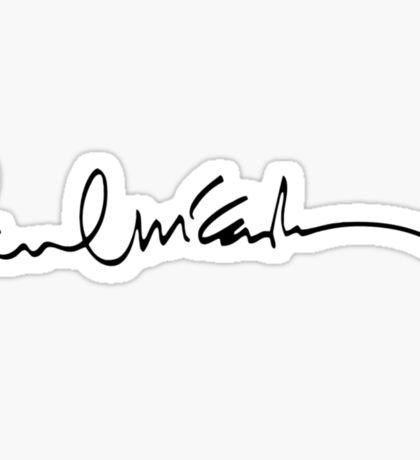 paul mccartney signature Sticker