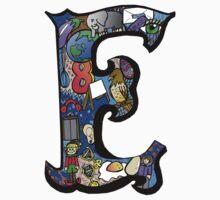 Doodle Letter E One Piece - Long Sleeve