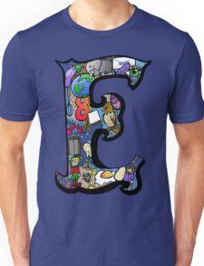 Doodle Letter E Unisex T-Shirt