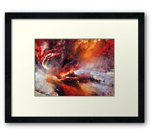 Genesis Abstract Expressionism Art Framed Print