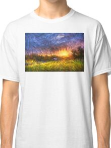 Modern Landscape Van Gogh Style Classic T-Shirt
